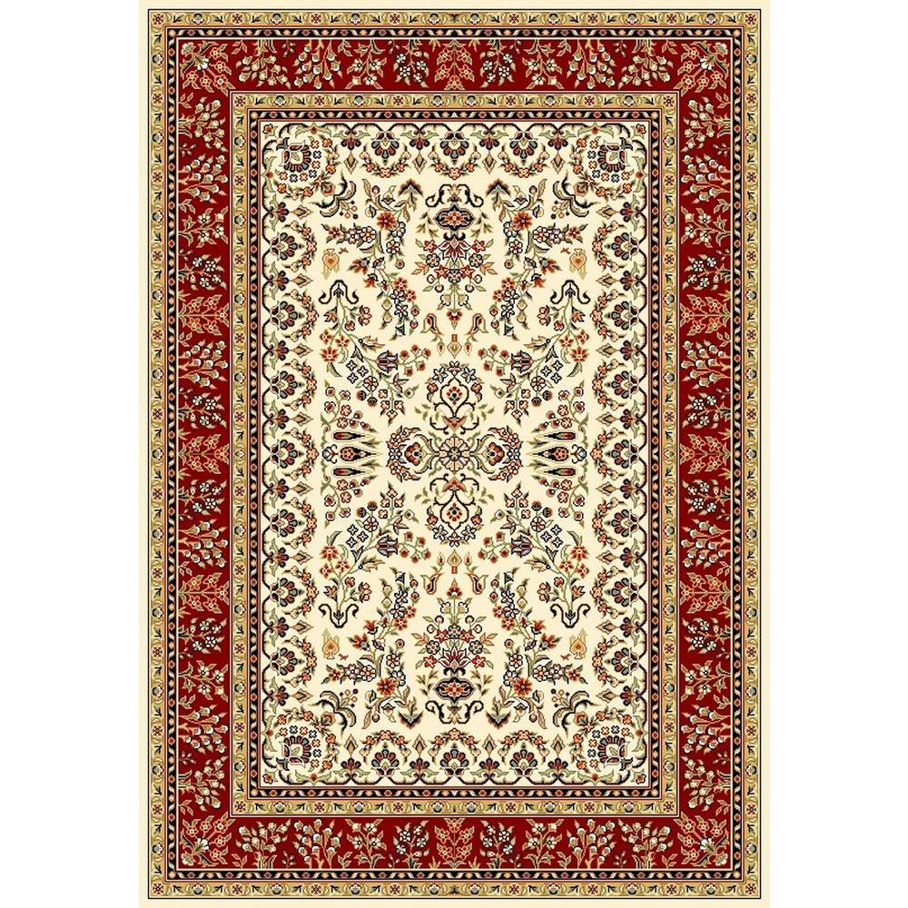 Safavieh Lyndhurst Ivory/Red 5 ft. 3 in. x 7 ft. 6 in. Area Rug