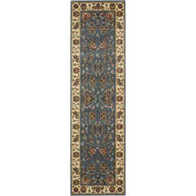 Persian Arts Light Blue 2 ft. 3 in. x 12 ft. Rug Runner