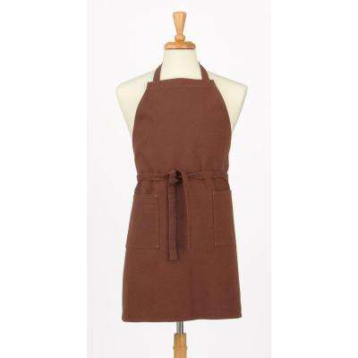 Two Pocket Cotton Canvas Chef's Apron, Brown