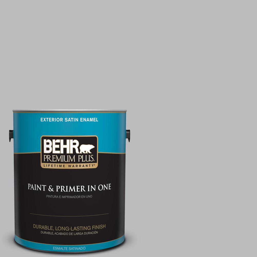 1 gal. #PPU18-05 French Silver Satin Enamel Exterior Paint