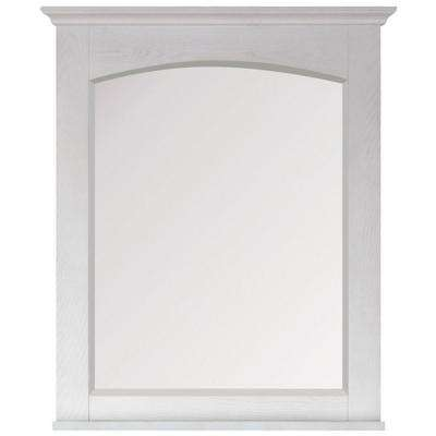 Westwood 28 in. W x 32 in. H Framed Wall Mirror in White Washed