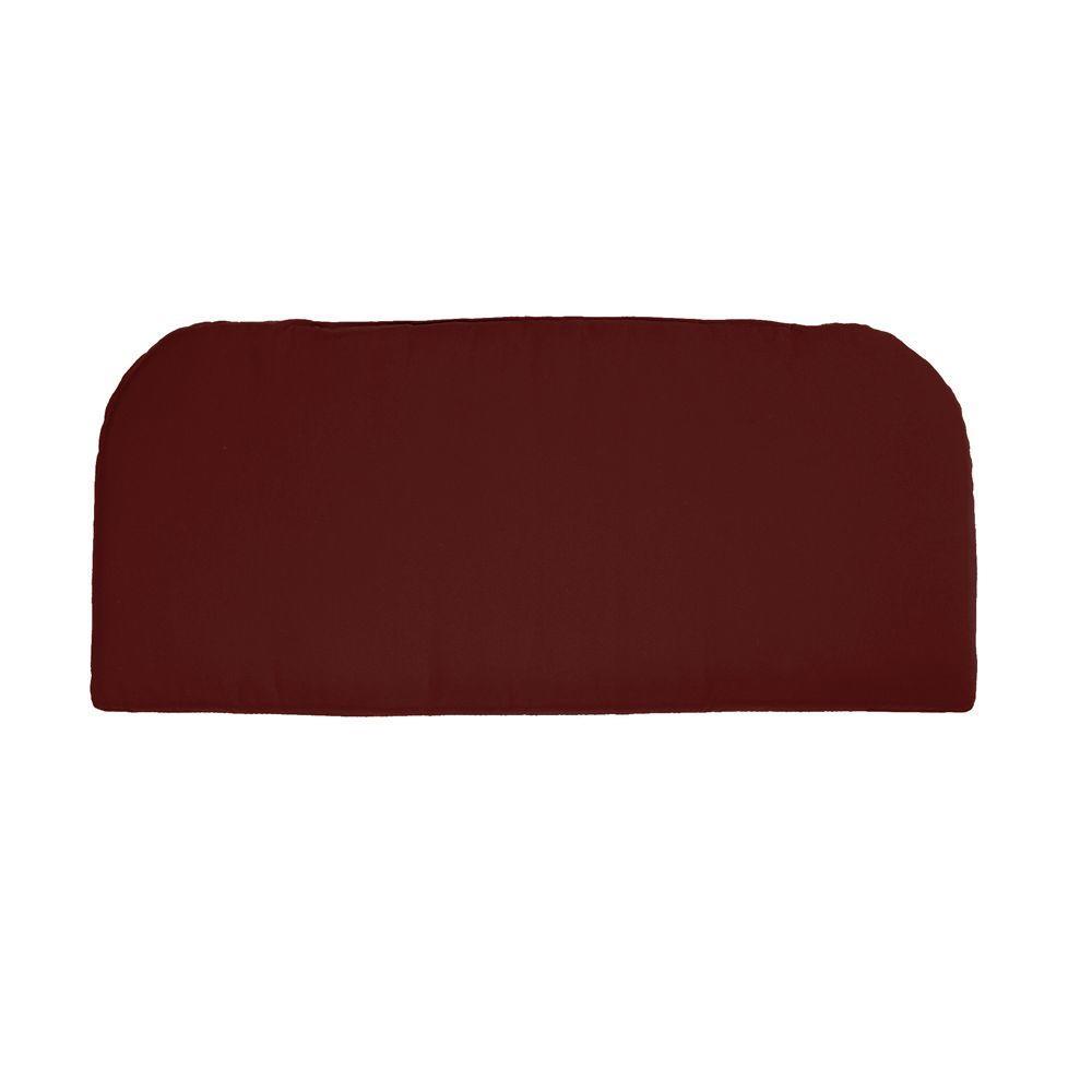 Home Decorators Collection Sunbrella Henna Outdoor Contoured Bench Cushion
