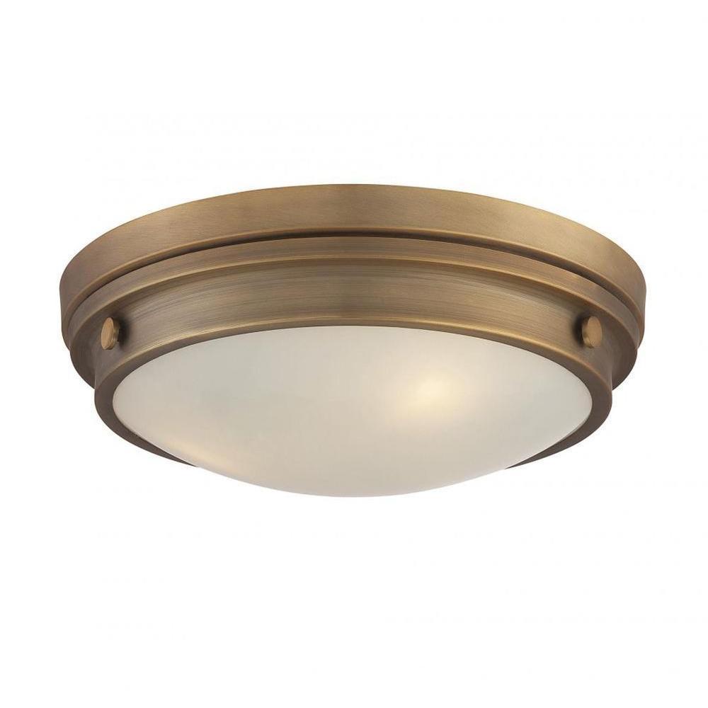 Skye 3-Light Warm Brass Flush Mount