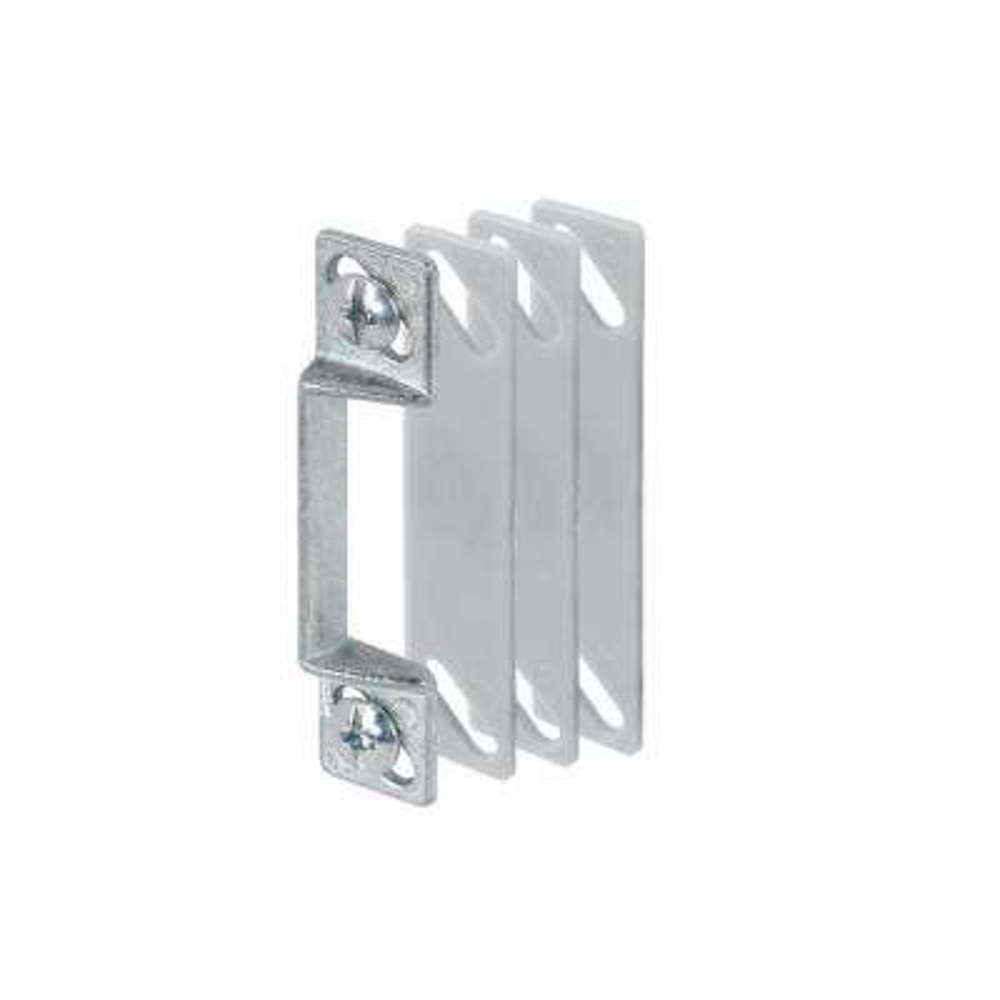 Screen Door Strike Plate, 1/4 in. with Shims, Aluminum