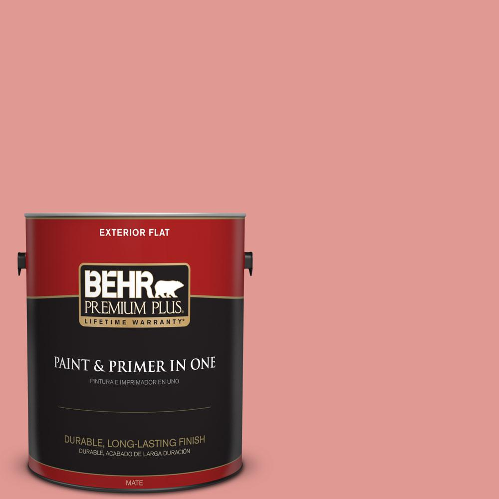 1-gal. #160D-4 Strawberry Rose Flat Exterior Paint