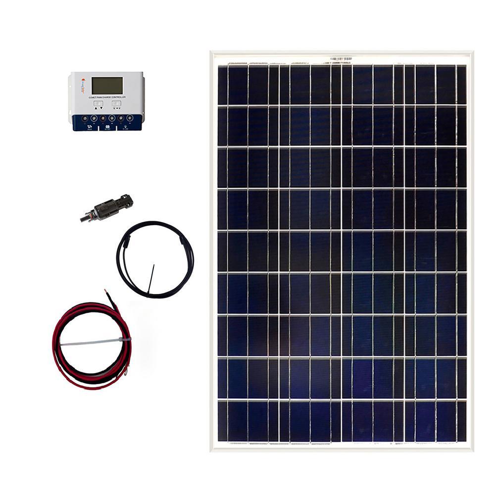 Grape Solar Solar Panel Kit 100 W Off Grid 300 Watt Hours