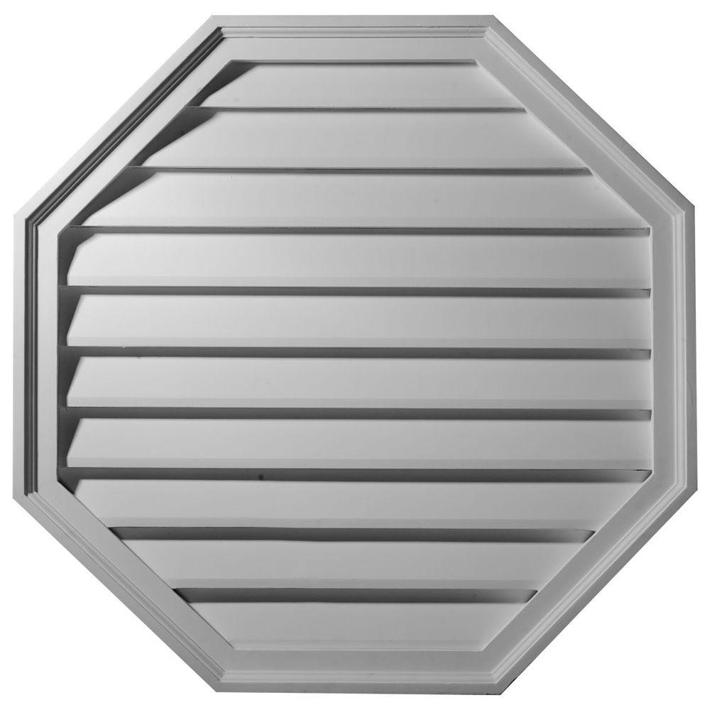 Ekena Millwork 1-3/8 in. x 18 in. x 18 in. Decorative Octagon Gable Louver Vent
