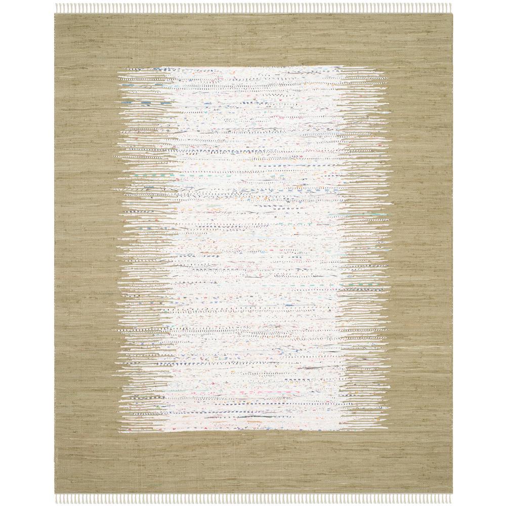 Montauk Ivory/Olive 8 ft. x 10 ft. Area Rug