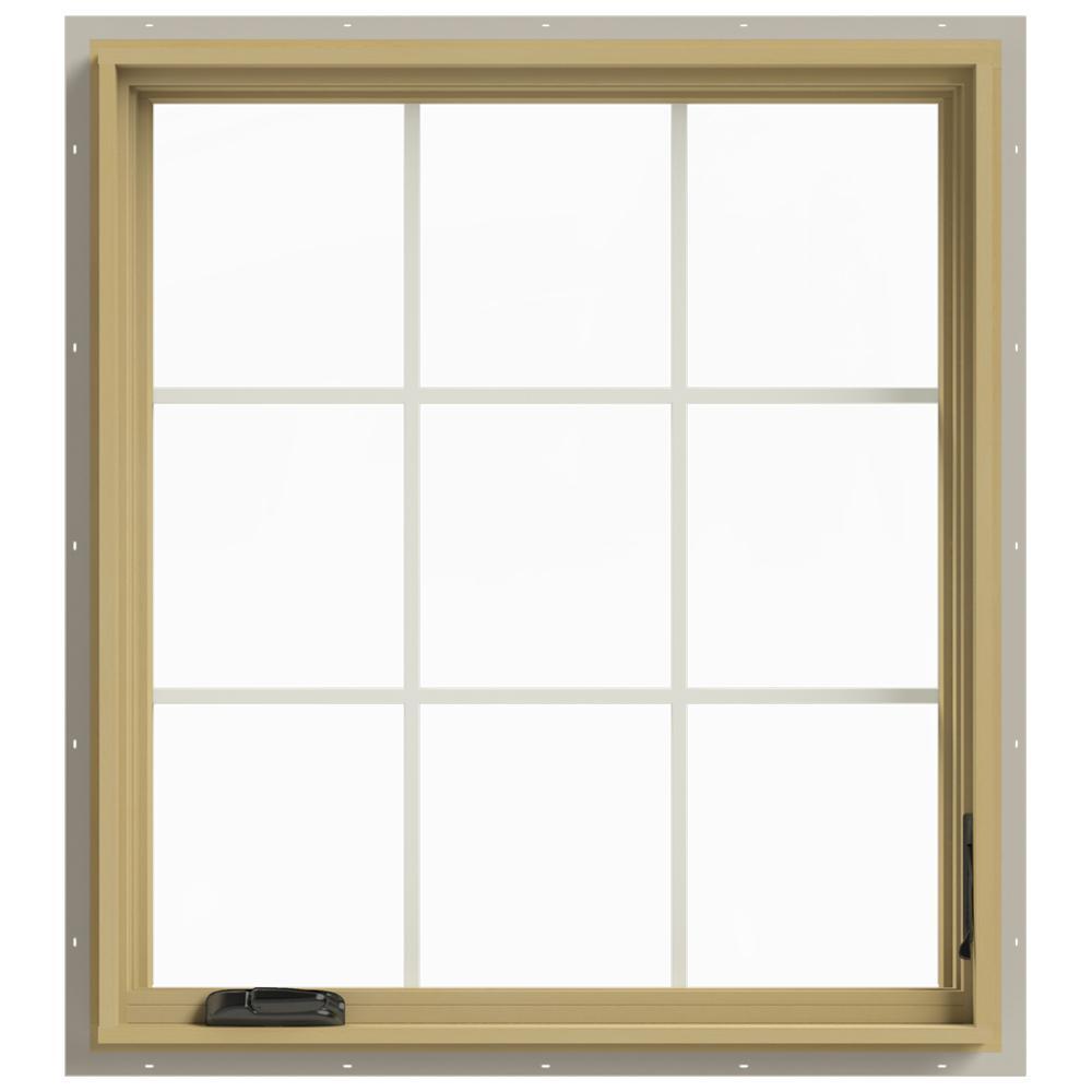 36 in. x 40 in. W-2500 Right-Hand Casement Aluminum Clad Wood Window