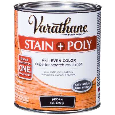 1-qt. Pecan Gloss Water-Based Interior Stain and Polyurethane (2-Pack)