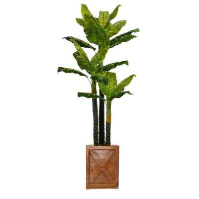 81 in. Tall Real Touch Evergreen in Planter
