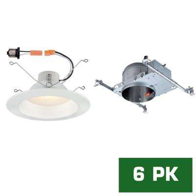 New construction integrated led recessed lighting lighting led recessed new construction shallow height housing with led recessed baffle trim kit aloadofball Image collections