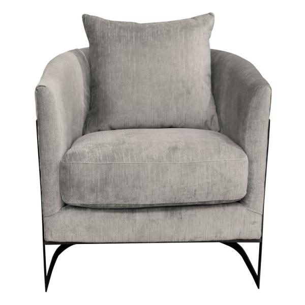 Modern Unique Accent Chairs.Swan Contemporary Beige Fabric Upholstered Accent Chair