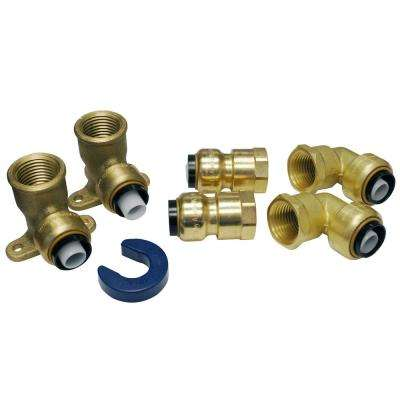 1/2 in. Brass Push-to-Connect Shower/Tub Installation Kit