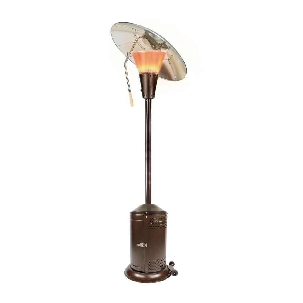 Hampton Bay 38,200 BTU Bronze Heat-Focusing Propane Gas Patio Heater ...