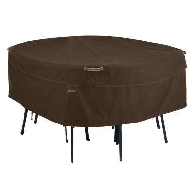 Madrona Rainproof Medium Round Patio Table and Chair Set Cover - Dining Group - Classic Accessories - Waterproof - Patio Furniture
