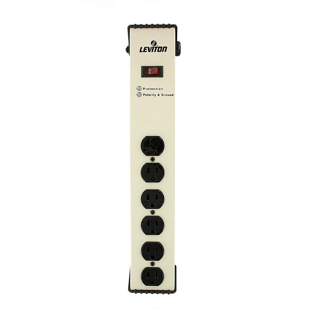 15 Amp Heavy Duty Surge Protected 6-Outlet Power Strip, 1330 Joules,
