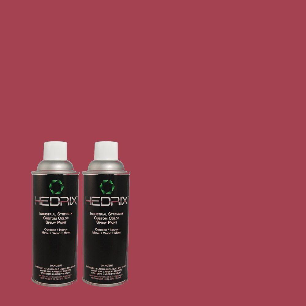 Hedrix 11 oz. Match of 110B-7 Raspberry Pudding Semi-Gloss Custom Spray Paint (2-Pack)