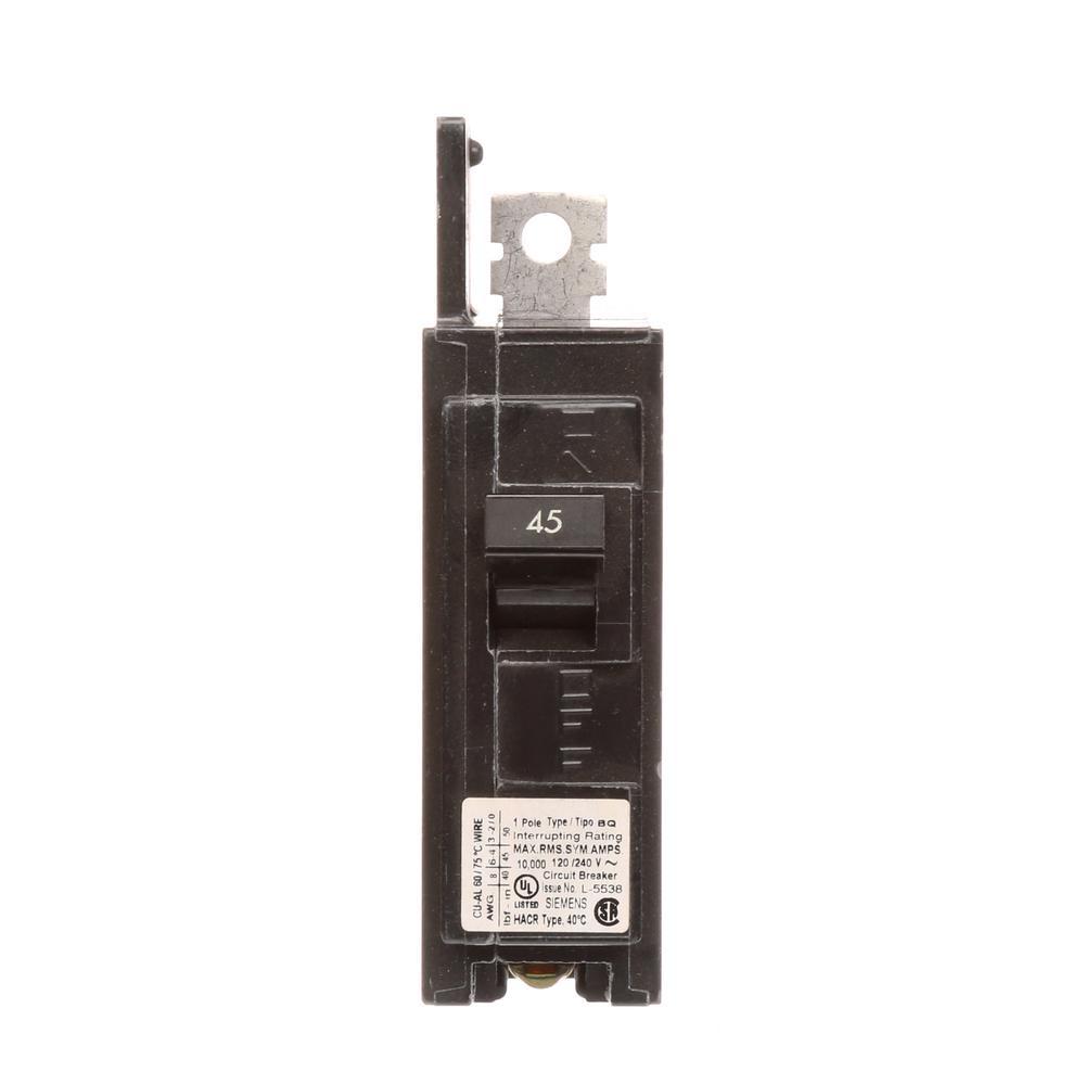 45 Amp 1-Pole BQ 10 kA Lug-In/Lug-Out Circuit Breaker
