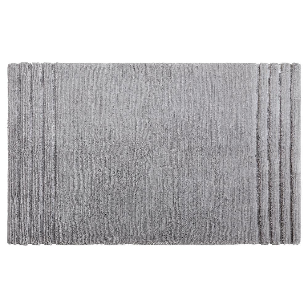 Empress 30 in. x 50 in. Cotton Bath Mat in Gray