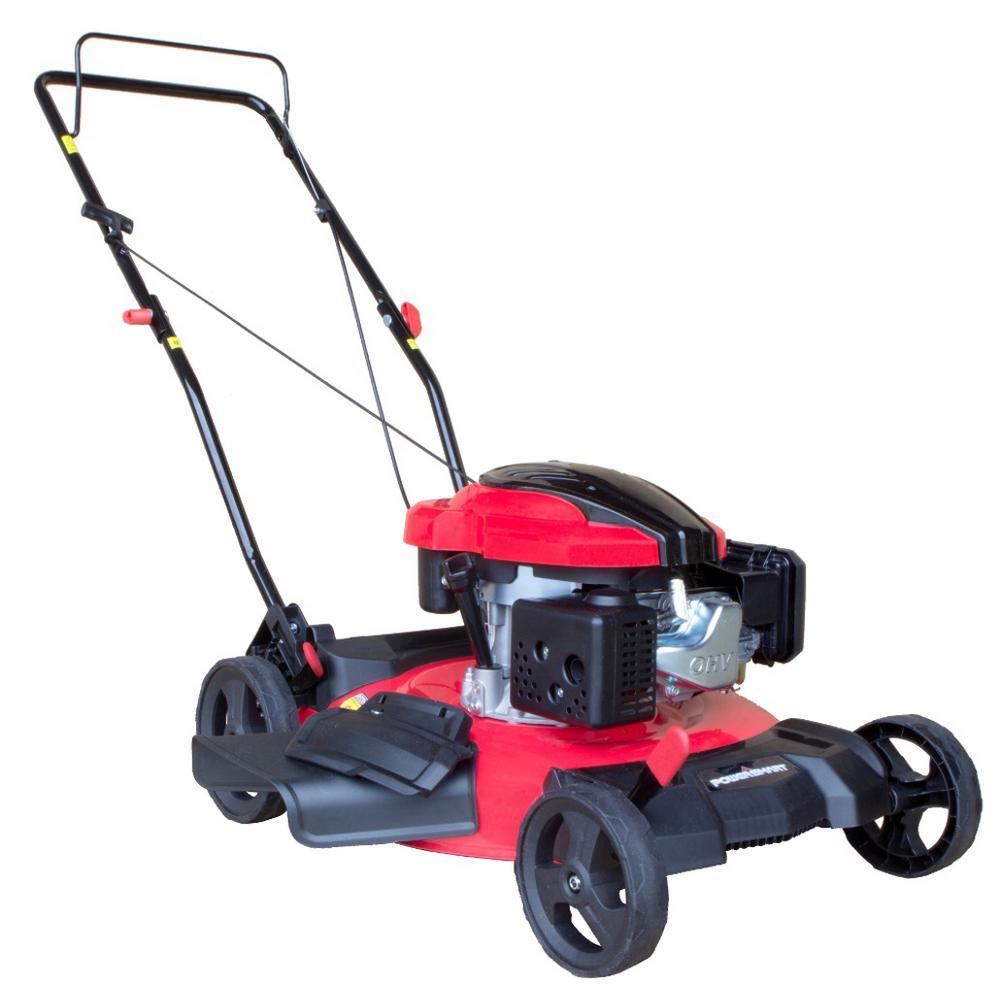 21 in. 2-in-1 159cc Gas Push Walk Behind Lawn Mower
