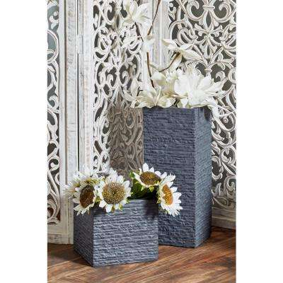 Black Fiber Clay Square Planters (Set of 4)