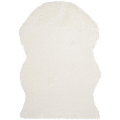 Faux Sheep Skin Ivory 4 ft. x 6 ft. Area Rug