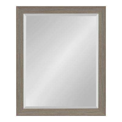 Scoop Rectangle Gray Wall Mirror