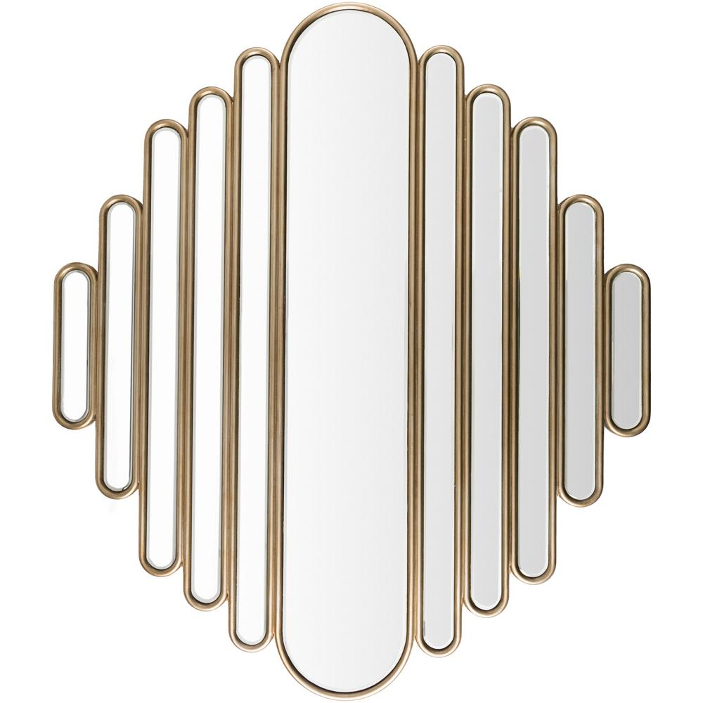 Alecia 46 in. x 53.15 in. Glam Framed Mirror