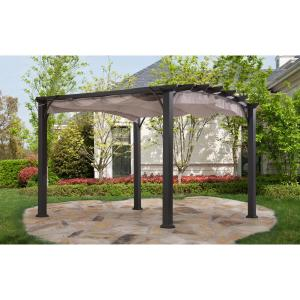 Sunjoy 10x10 Arched Pergola 110105020 The Home Depot