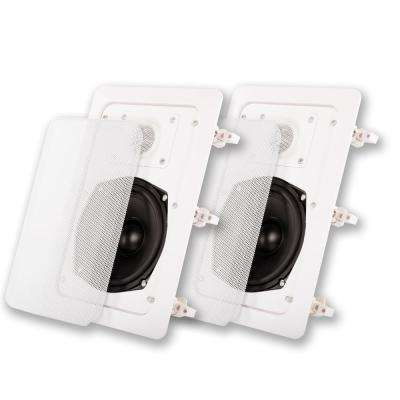 In-Wall Speaker Pair 2 Way Home Theater Surround Speakers