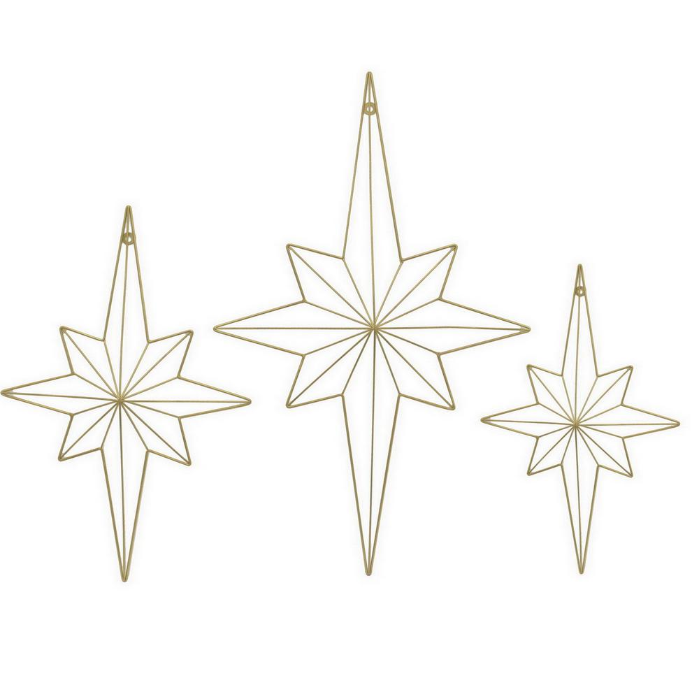 THREE HANDS Metal Wall Decor (Set of 3)-82359 - The Home Depot