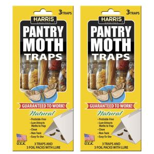 Harris Pantry Moth Traps with Lure - 6 Trap Value Pack by Harris