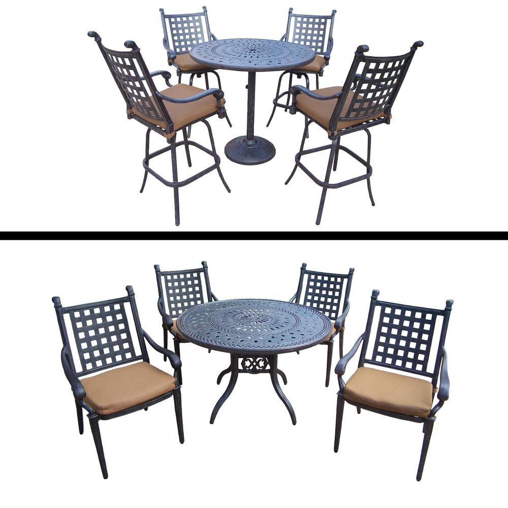 Dining Set For 10: Belmont Premier 10-Piece Aluminum Outdoor Dining Set With