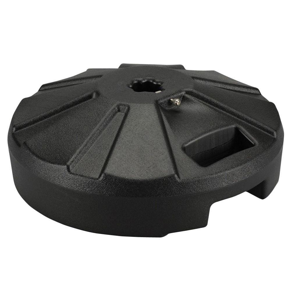 plastic patio base 16 in dia x 9 in oah in black - Umbrella Base