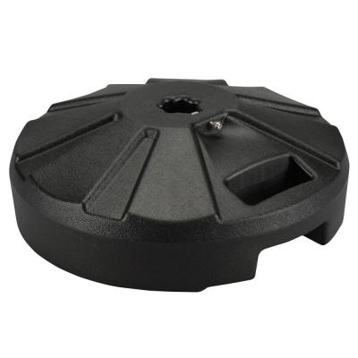 Plastic patio base 16 in. Dia x 9 in. oah in black