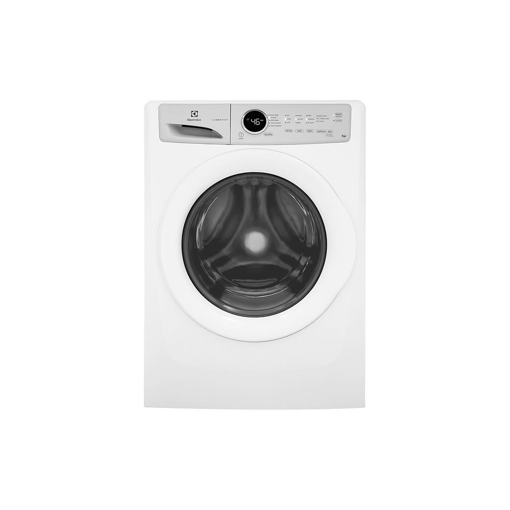 high efficiency front load washer in white