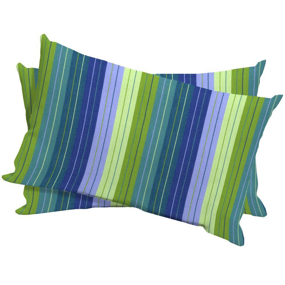 Arden Seaside Seville Outdoor Lumbar Pillow (2-Pack)-DISCONTINUED