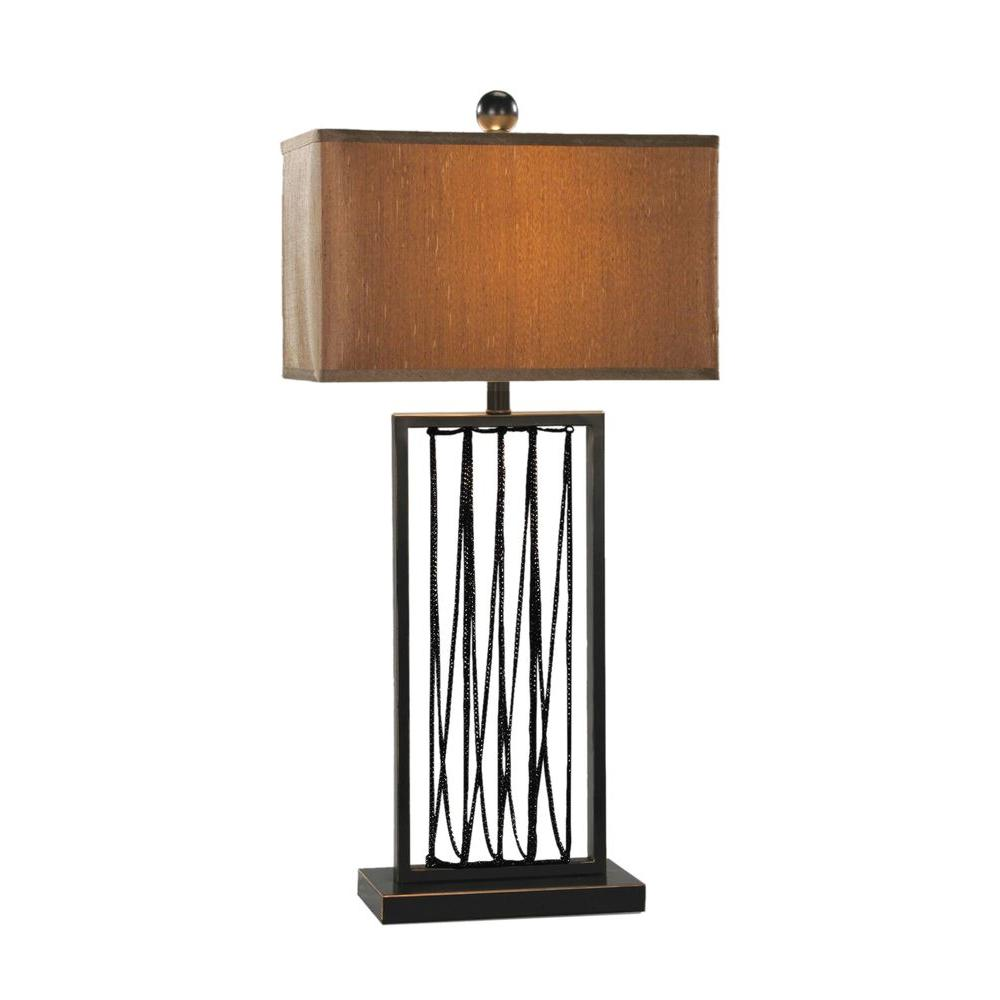 Titan Lighting 1-Light 30 in. Draping Chains Lamp-DISCONTINUED