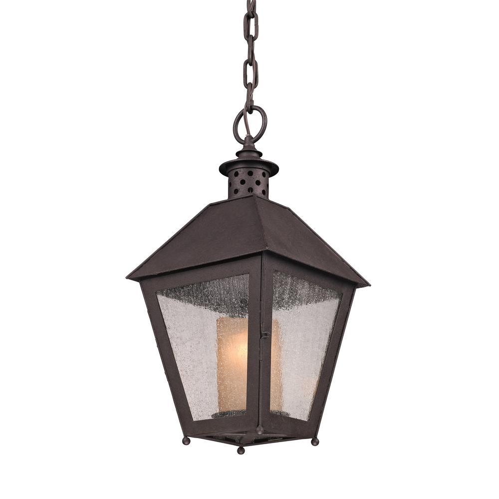 Hanging Light Bulbs Outdoor: Troy Lighting Sagamore 1-Light Centennial Rust Outdoor