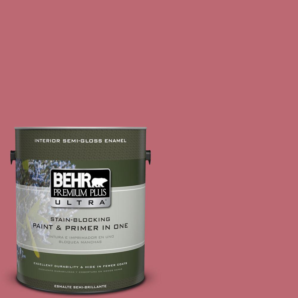 1-gal. #M140-5 Cherry Fizz Semi-Gloss Enamel Interior Paint