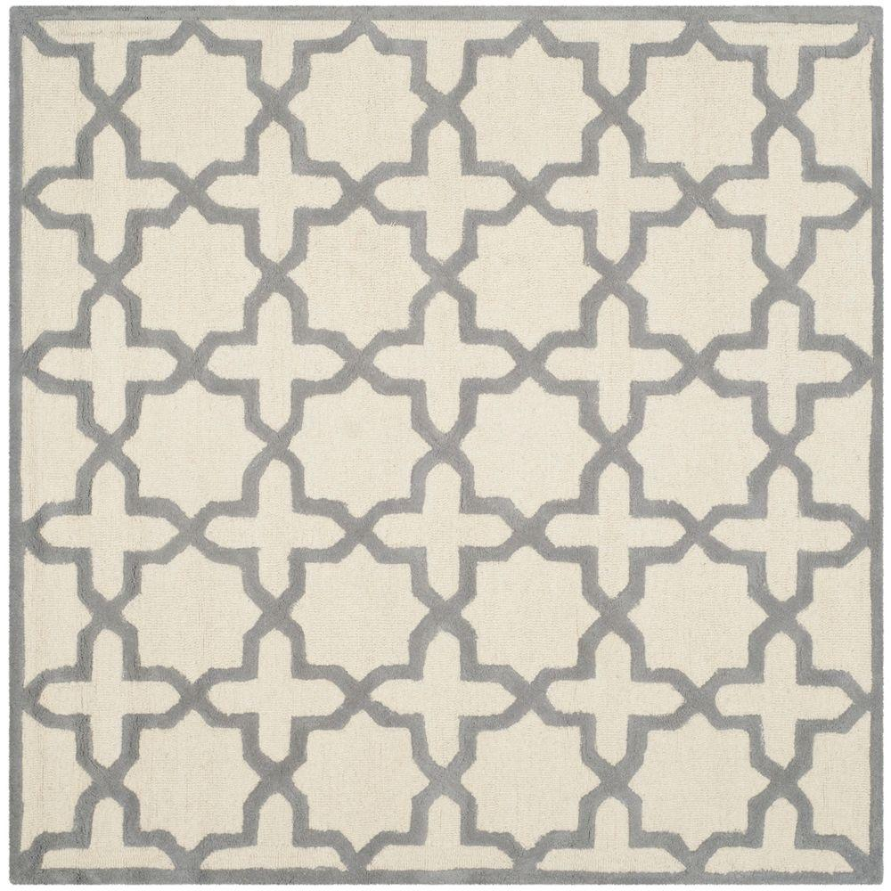 Cambridge Ivory/Silver 6 ft. x 6 ft. Square Area Rug