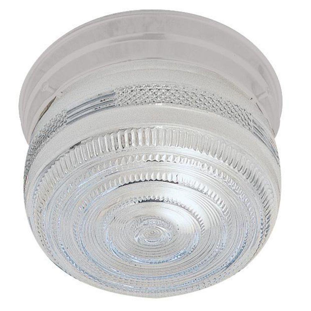 Peppiatt 1-Light White Flushmount