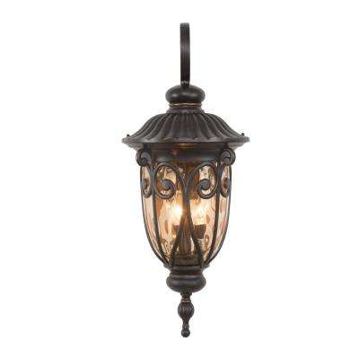 Viviana Collection 3-Light Oil Rubbed Bronze Outdoor Wall-Mount Lamp