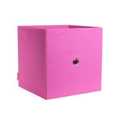 Full Fabric Drawer 12.5 in. x 12.5 in. Bubblegum Fabric Storage Bin