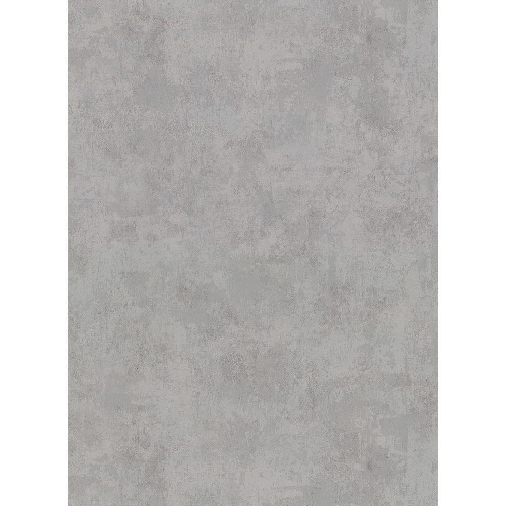 8 in. x 10 in. Hereford Grey Faux Plaster Wallpaper Sample