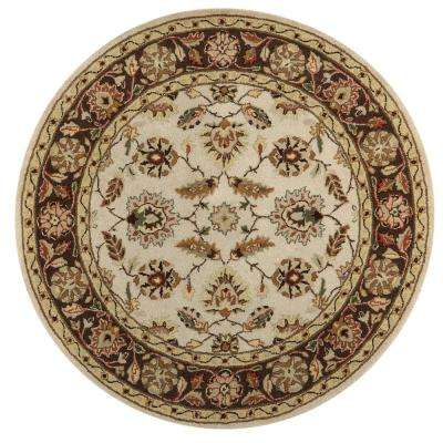 Old London Beige 6 ft. x 6 ft. Round Area Rug