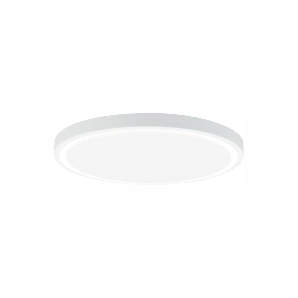 LBL Lighting Crest 17 41-Watt White LED Flush Mount Minimalist design and elegant engineering combine in the powerful Crest 17 LED ceiling light from LBL Lighting. A thin ring of light around the perimeter of the fixture creates beautifully geometric negative space.