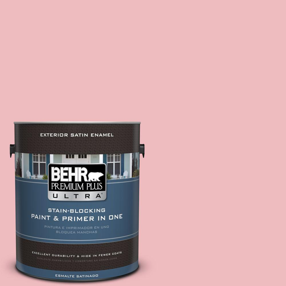 BEHR Premium Plus Ultra 1-gal. #P160-2 Blush Rush Satin Enamel Exterior Paint