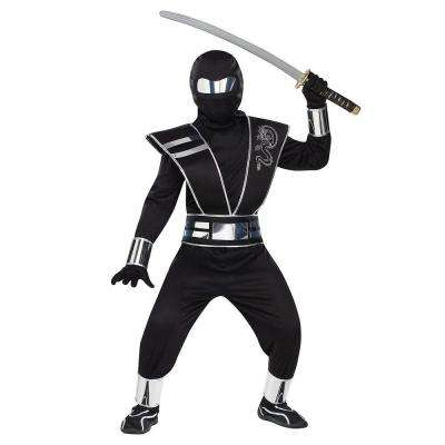 Boys Silver Mirror Ninja Costume